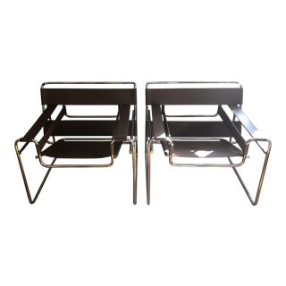 Marcel Breuer Wassily Chairs for Knoll - A Pair