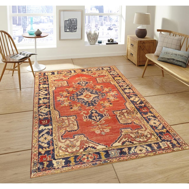 "Pasargad Vintage Sivas Collection Rug- 4' 4"" x 6' 7"" - Image 2 of 2"