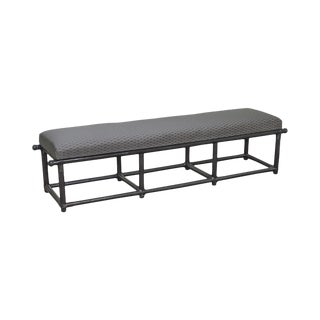 Hollywood Regency Vintage Black Bamboo Long Bench