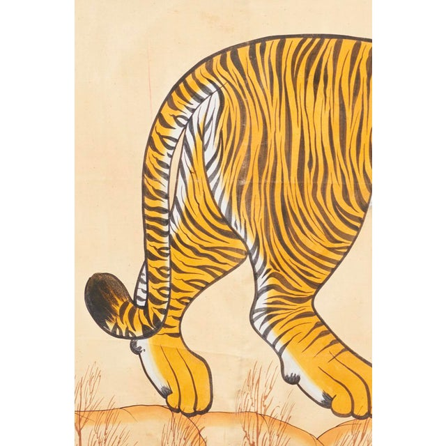 1980s Tiger Painting For Sale - Image 4 of 6