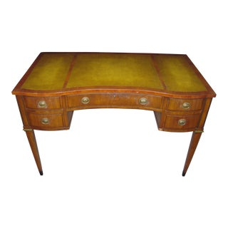 Widdicomb Regency Style Walnut Leather Top Desk For Sale