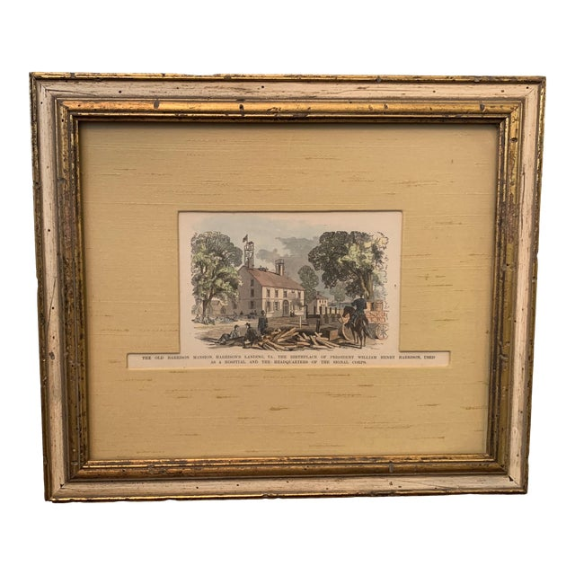 Late 19th Century Colored Etching, Framed For Sale