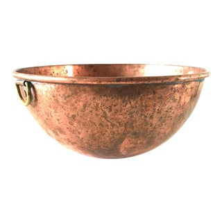 "Mid 20th Century Antique 10 1/4"" English Copper Bowl For Sale"