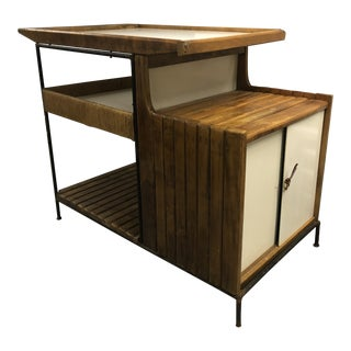 1950s Mid-Century Modern Arthur Umanoff Bar Cart For Sale