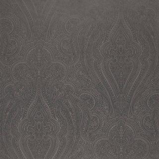 Sample - Schumacher Breckenridge Paisley Wallpaper in Charcoal For Sale