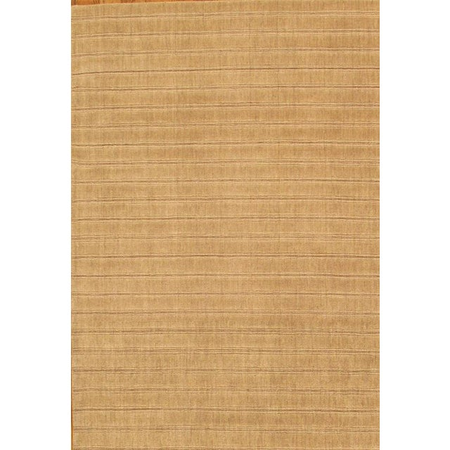 "Contemporary Modern Hand-Loomed Wool Area Rug - 5' 8"" X 8' 7"" For Sale - Image 3 of 3"