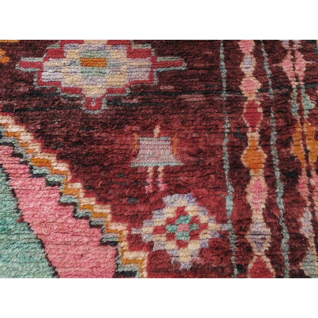 Red Moroccan Boujad Rug - 5′9″ × 11′8″ For Sale - Image 8 of 12