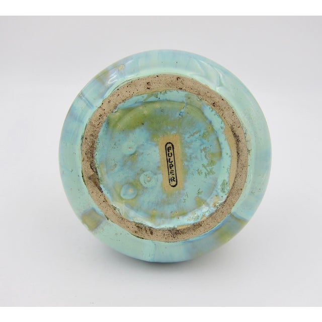 Vintage Fulper Pottery Arts & Crafts Double Handled Vase With Flambé Glaze For Sale - Image 9 of 11