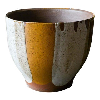 David Cressey for Architectural Pottery Flame Glaze Planter, Circa 1970 For Sale