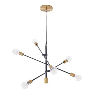 West Elm Large Gold and Black Mobile Chandelier For Sale