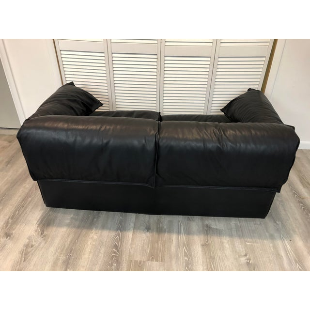 Vintage Niels Eilersen Leather Convertible Couch Sofa For Sale - Image 11 of 13