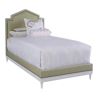 Mary McDonald for Chaddock Beaumont Bed Twin in Sage Green For Sale