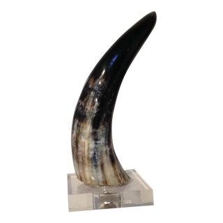 Horn on Crystal Base For Sale