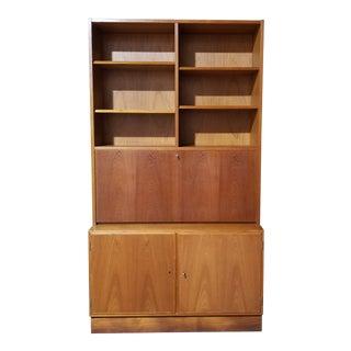 Mid 20th Century Poul Hundevad Drop Front Secretary Desk Bookcase For Sale
