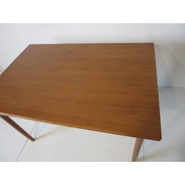 1960s Danish Modern Extendable Teak Dining Table For Sale - Image 5 of 8