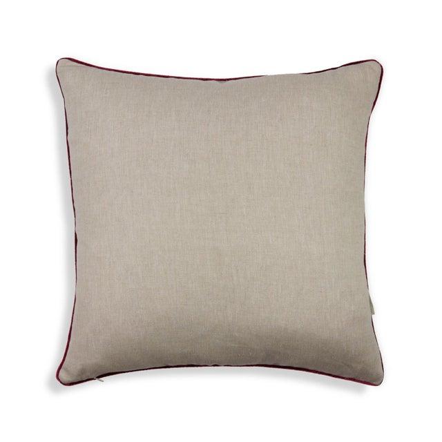 "Brushstroke Plaid 22"" Pillow, Cream - Image 4 of 4"