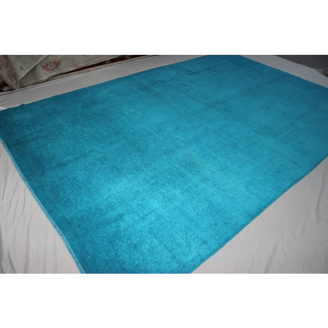 Overdyed Blue Turquaz Rug - 5′10″ × 9′2″ For Sale - Image 5 of 7