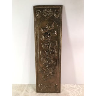 Mid-Century Modern Brass Embossed Panel with Floral Design Preview