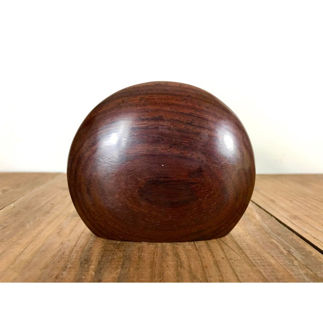 Mid-Century Modern Solid Wood Single Salt and Pepper Shaker For Sale In San Francisco - Image 6 of 6