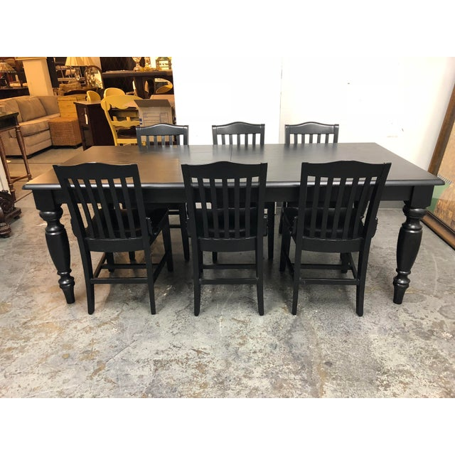 Black Pottery Barn Francisco Black Table & Six Chairs - Dining Set For Sale - Image 8 of 8