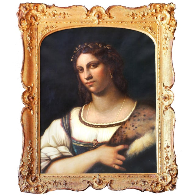 Portrait of La Fornarina After Sebastian Del Piombo For Sale In New York - Image 6 of 6