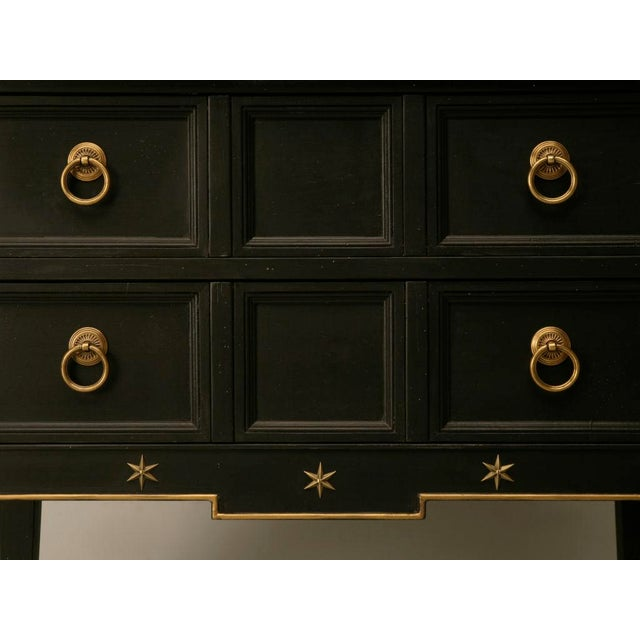 Black Vintage Jacques Adnet Style Cupboard, Bar, or TV Cabinet For Sale - Image 8 of 11