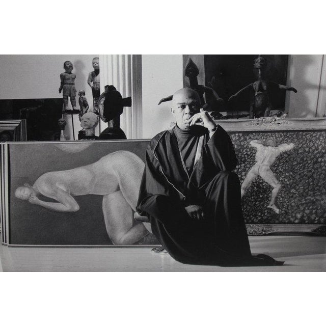 A black and white photograph of the noted actor Geoffrey Holder by the photographer and graphic artist Lance Evans. This...