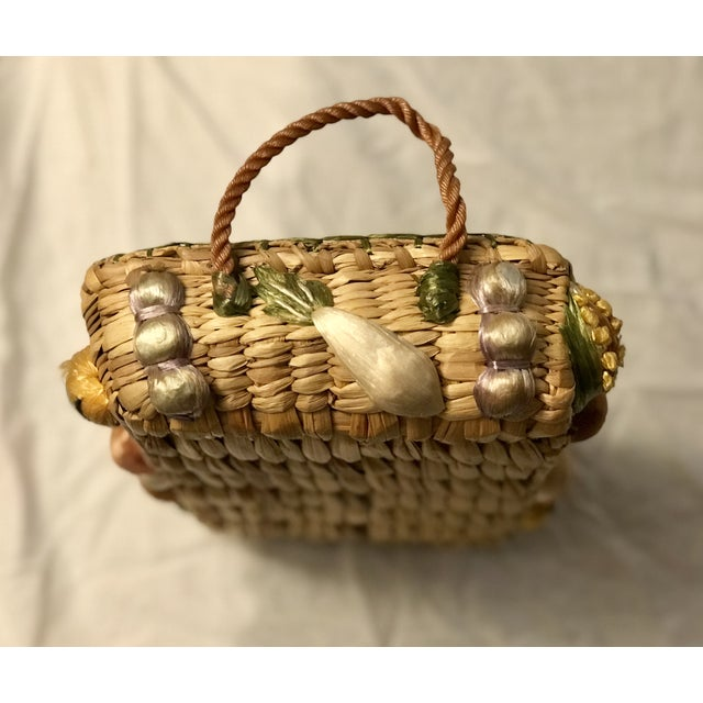 Mid 20th Century 20th Century Rustic Style Grass Basket For Sale - Image 5 of 8