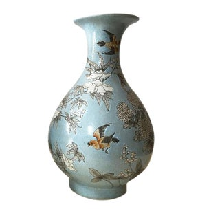 Chinese Famille Rose Porcelain Shaped Vase For Sale