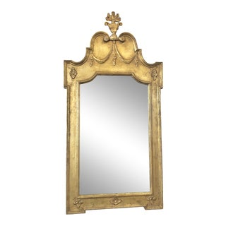 Antique Italian Gold Leaf Mirror For Sale