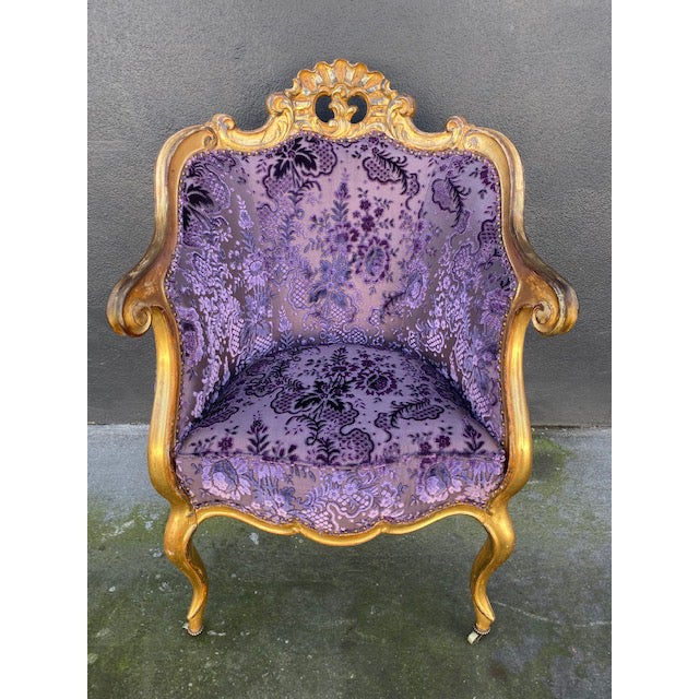 Late 19th Century Vintage Italian Giltwood Chair For Sale - Image 13 of 13