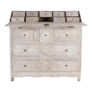 Louis XVI Bleached Oak Secretary Cabinet For Sale