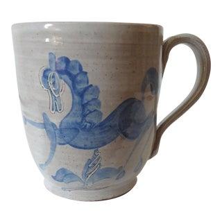 Mary & Edwin Scheier Modernist Pottery Horses Mug