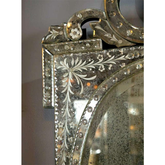 Venetian Style 1970s Etched Glass Mirrors - A Pair - Image 3 of 9