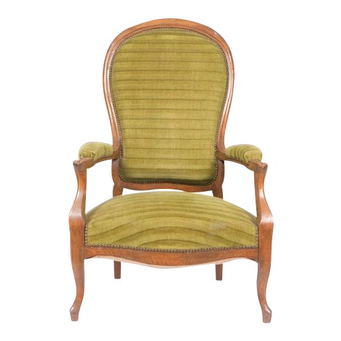 1890's French Rococo-Style Armchair For Sale
