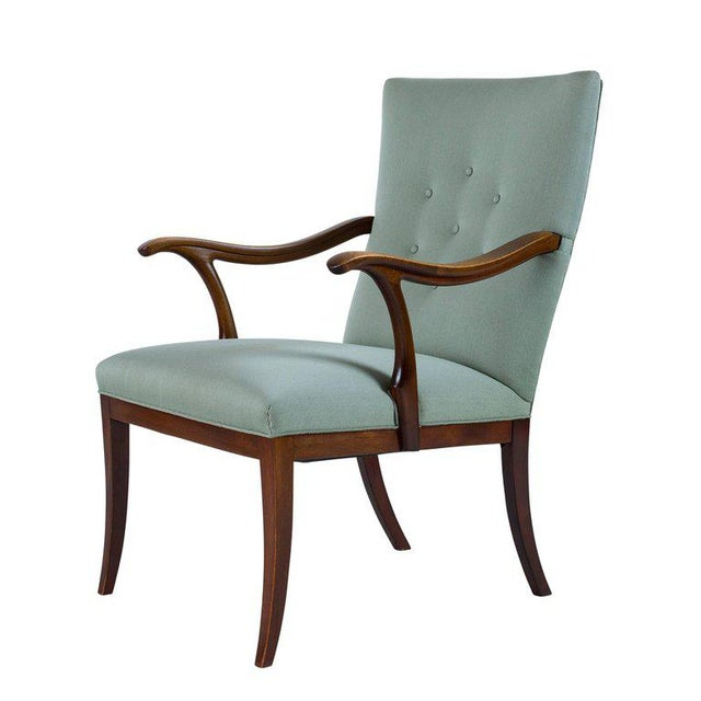 1940s Frits Henningsen Lounge Chair For Sale - Image 5 of 8
