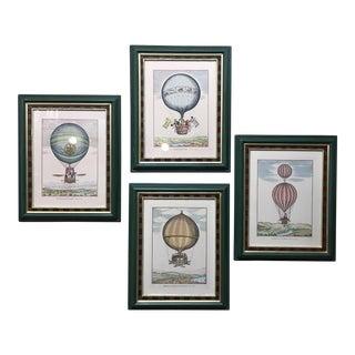 Italian Hot Air Balloon Prints - Set of 4