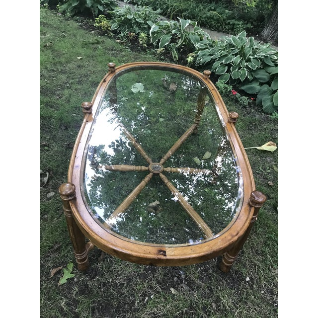 1970's Vintage Nautical Themed Coffee Table For Sale - Image 4 of 8