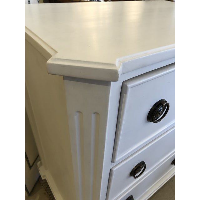 White Painted Chest of Drawers Nightstand For Sale - Image 4 of 10