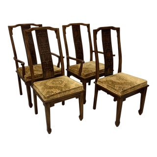 Century Chinese Chippendale Dining Chairs- Set of 4 For Sale