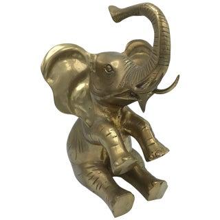 1960s Italian Brass Elephant Sculpture For Sale