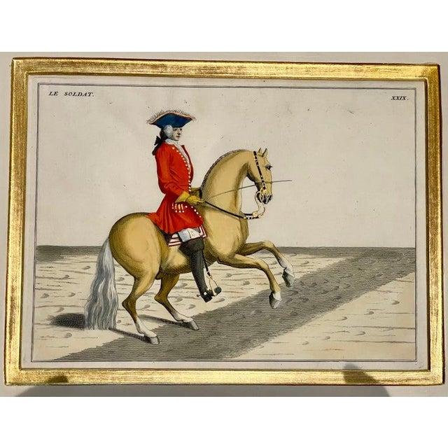 Engraving Four Engravings of Horse Riders Le Soldat, Le Grand, Le Diligent, L' Enjoue For Sale - Image 7 of 12