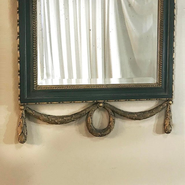 19th Century Italian Carved Wood Painted Marble Top Console With Mirror For Sale - Image 9 of 13