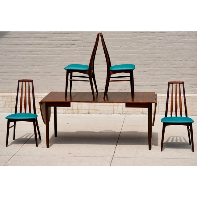 Niels Kofoed for Hornslet Mobelfabrik Henry Rosengren Hansen Rosewood Dining Table- 5 Pieces For Sale - Image 9 of 9