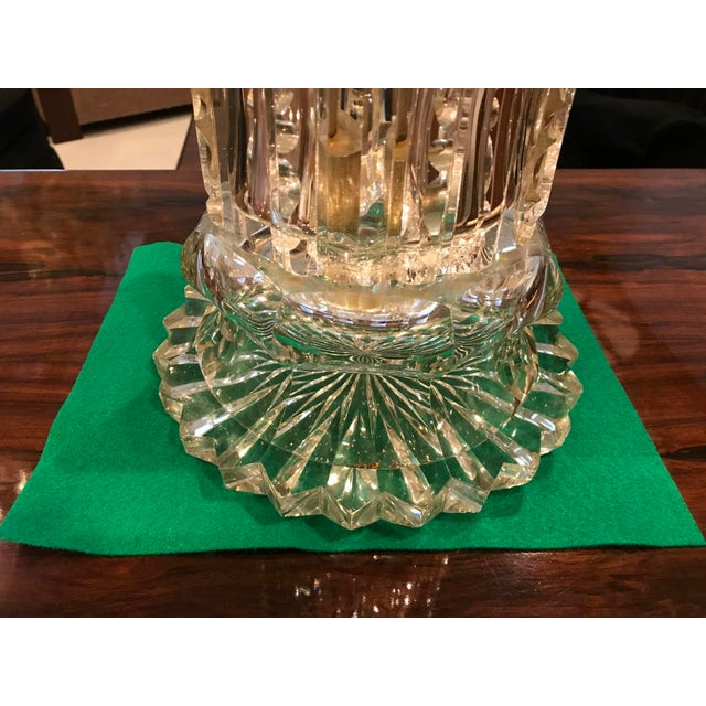 Monumental Russian Imperial Cut-Crystal Vase For Sale - Image 4 of 8