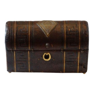 Regency Tooled Leather Dome-Topped Box Circa, 1825 For Sale
