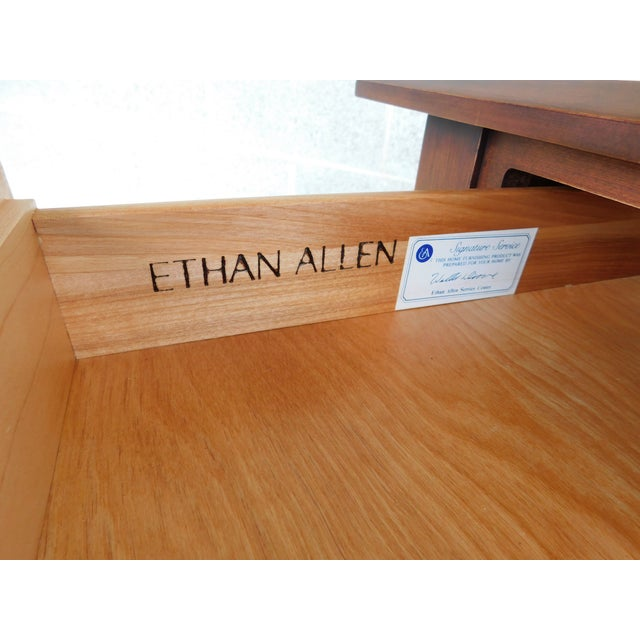 Brown Ethan Allen American Dimension Collection 1 Drawer End Table For Sale - Image 8 of 9