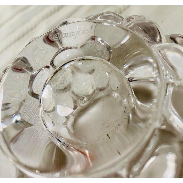 Kosta Boda Orrefors Kosta Boda Raspberry Bubble Crystal Tea Votive Candle Holders - a Pair For Sale - Image 4 of 5