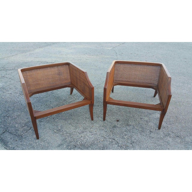 Teak 1950s Danish Modern Teak Saber Leg Low Slung Lounge Chairs - a Pair For Sale - Image 7 of 11