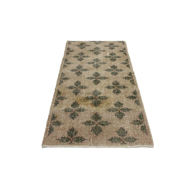 "Boho Chic Zeki Muren Vintage Turkish Sivas Rug - 3' X 6'4"" For Sale - Image 3 of 4"
